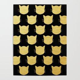 Golden Cats Poster