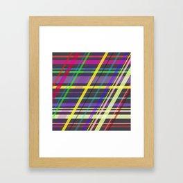 Purple Yellow Green Blue Summer Fun Trippy Crossing Lines Framed Art Print