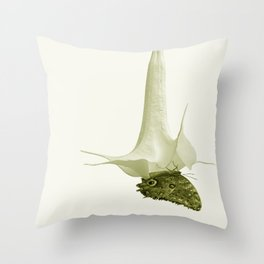 Monochrome - At the butterfly ball Throw Pillow