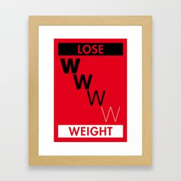 Illustrated new year wishes: #7 LOSE WEIGHT Framed Art Print