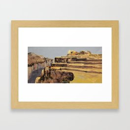 fields in the gold Framed Art Print