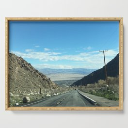 Mountain Road in Palm Springs California Serving Tray