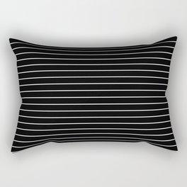 Thin White Lines - Blakc and white stripes Rectangular Pillow