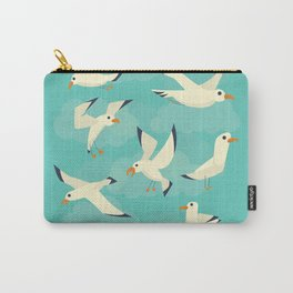 Vintage Seagulls Sketchbook Style Carry-All Pouch