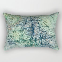Vintage Clipper Ship Rectangular Pillow