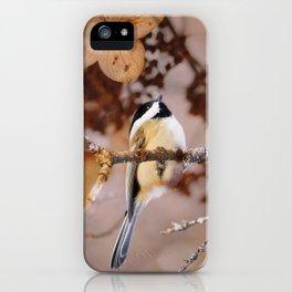 Birds :: Winter Chickadee iPhone Case