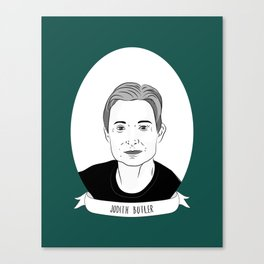 Judith Butler Illustrated Portrait Canvas Print