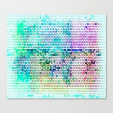 Fancy dots colorful abstract modern pattern Canvas Print
