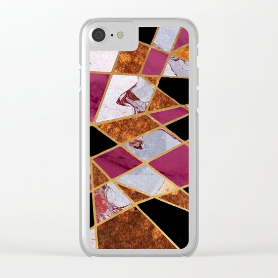 Abstract #448 Clear iPhone Case