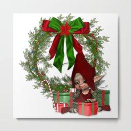 Elfin Christmas Metal Print