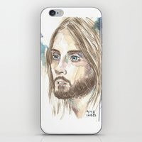 jared leto iPhone & iPod Skins featuring Leto by SirScm