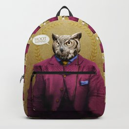 "Mr. Owl says: ""HOOT Happens!"" Backpack"