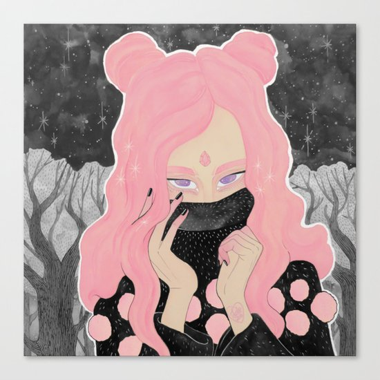 Pink Wicked Canvas Print