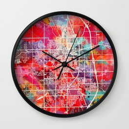 Kokomo map Indiana IN 2 Wall Clock