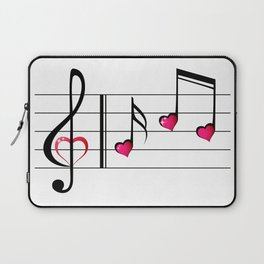 Music love concept Laptop Sleeve