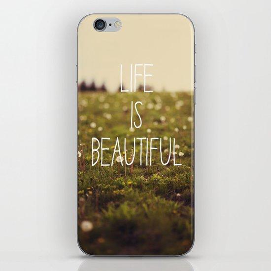 Life is Beautiful (Dandelion) iPhone & iPod Skin