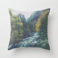 explore Throw Pillows featuring Explore by Hannah Kemp