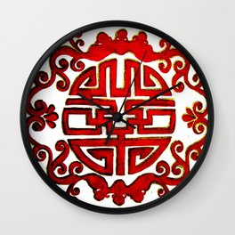 Chinese Stamp Wall Clock