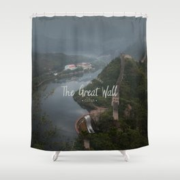 A different view of The Great Wall of China Shower Curtain