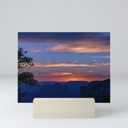 Colorful Sunset - North_Rim, Grand_Canyon, AZ Mini Art Print