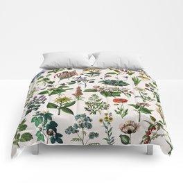 vintage botanical print Comforters