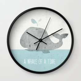 Whale Of A Time Wall Clock