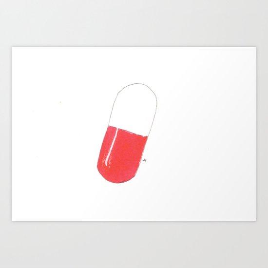 a pill Art Print