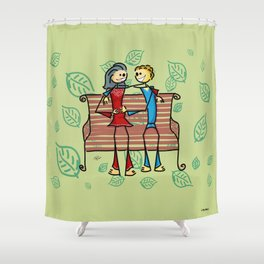 Life and living Shower Curtain