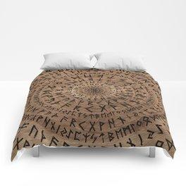Elder Futhark Circular Composition Comforters