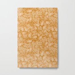 Summer Coral Branches - Marigold Palette  Metal Print