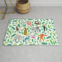Animals in the Jungle Rug
