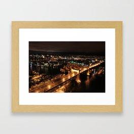 Nightly Bridge Framed Art Print