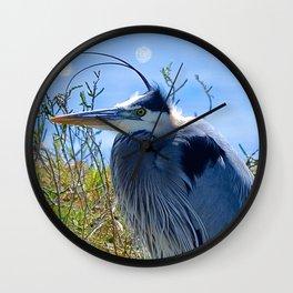 heron style Wall Clock