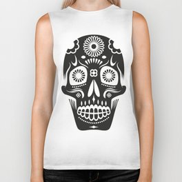Sugar Skull Biker Tank