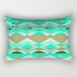 Rustic Turquoise Southwest Rectangular Pillow