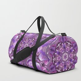 Truth Mandala in Purple, Pink and White Duffle Bag