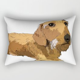 Hans the dachshund Rectangular Pillow