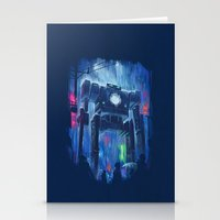 robot Stationery Cards featuring Impressionist Robot by Dan Burgess