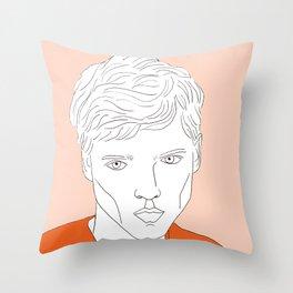 Orange man Throw Pillow