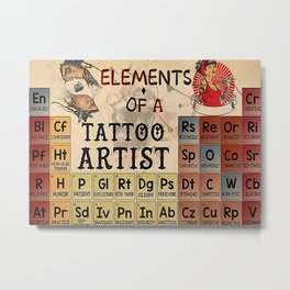 Tattoo Addicts Elements Of A Tattoo Artist Metal Print