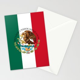 Flag of Mexico with Coat of Arms (augmented scale) Stationery Cards
