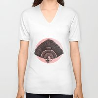 headdress V-neck T-shirts featuring ::headdress:: by eve orea