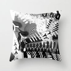 GRAY AND BLACK Throw Pillow