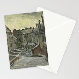 Houses Seen from the Back Stationery Cards