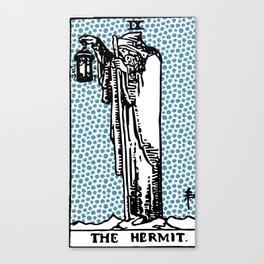 Modern Tarot Design - 9 The Hermit Canvas Print