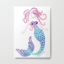 Tribal Mermaid Metal Print