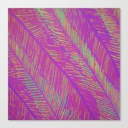 Neon Summer Palms Canvas Print