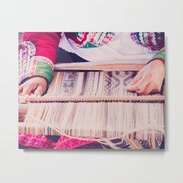 Peruvian Traditional Weaving Metal Print