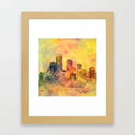 Abstract City Scape Digital Art Framed Art Print