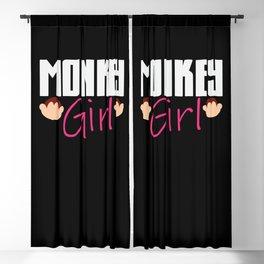 Monkey Girl Girls Monkeys Ape Apes Primates Animal Blackout Curtain